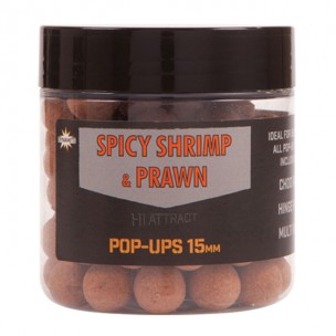 spicy shrimp & prawn 15mm pop-ups dynamite baits