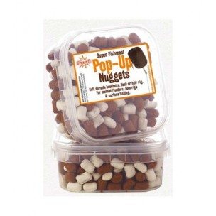 nuggets pellet pop-up white/brown dynamite baits